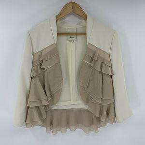 Anthropologie Elevenses Womens Blazer Open Jacket